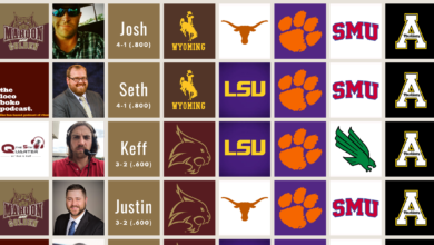 Week 2 College Football Pick'em – Maroon & Golden